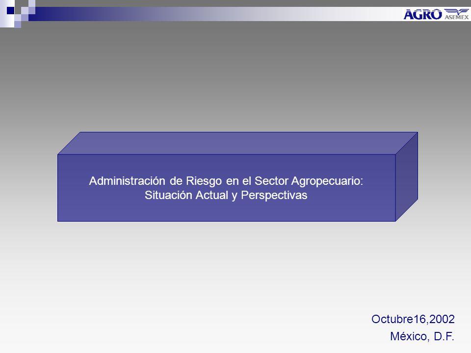 Administración de Riesgo en el Sector Agropecuario: