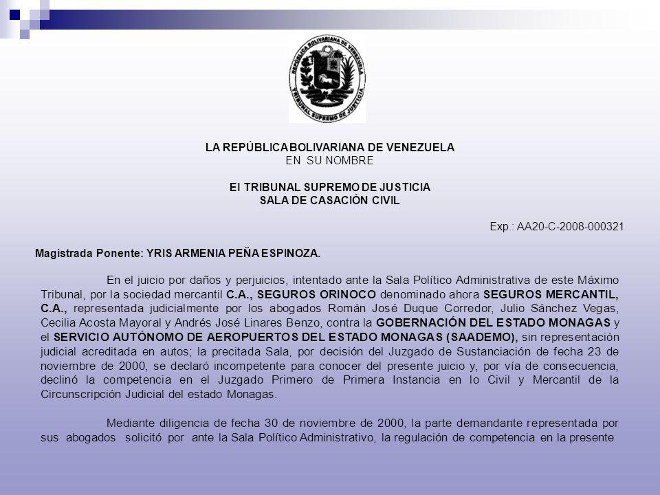 LA REPÚBLICA BOLIVARIANA DE VENEZUELA