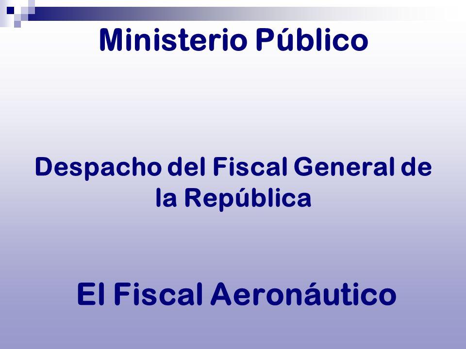 Ministerio Público Despacho del Fiscal General de la República El Fiscal Aeronáutico