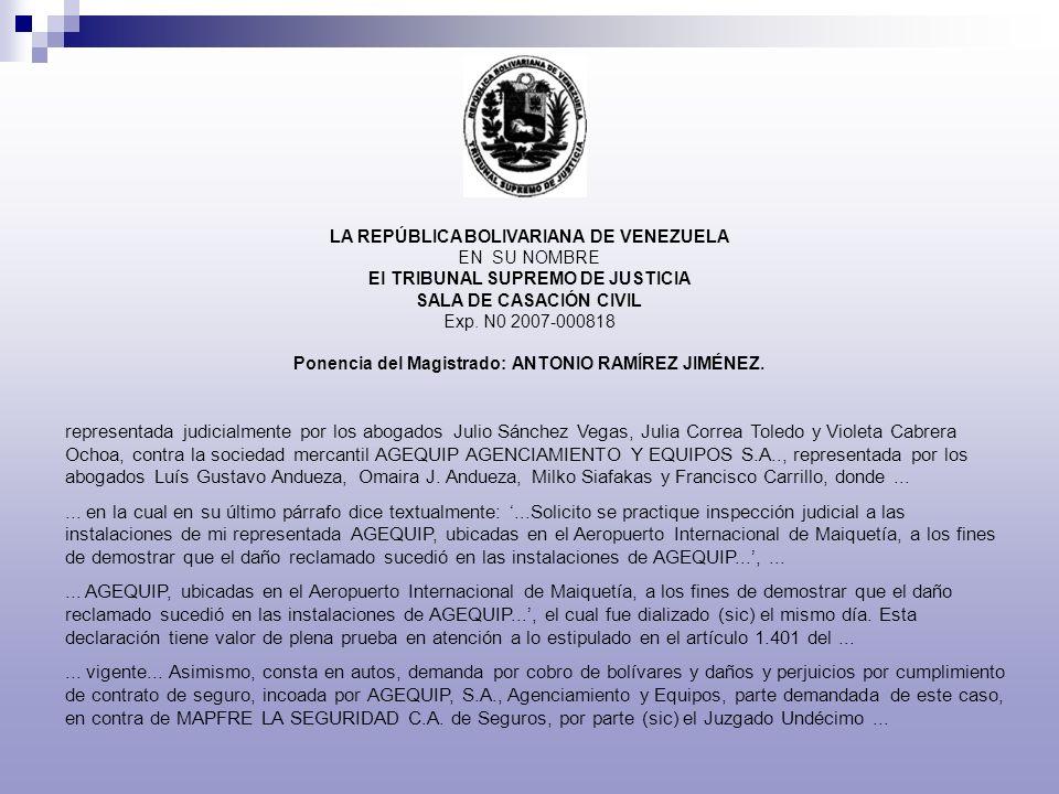 Ponencia del Magistrado: ANTONIO RAMÍREZ JIMÉNEZ.