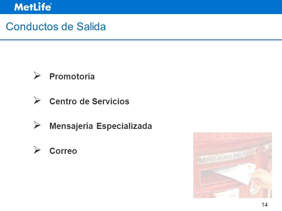 Conductos de Salida Promotoría Centro de Servicios