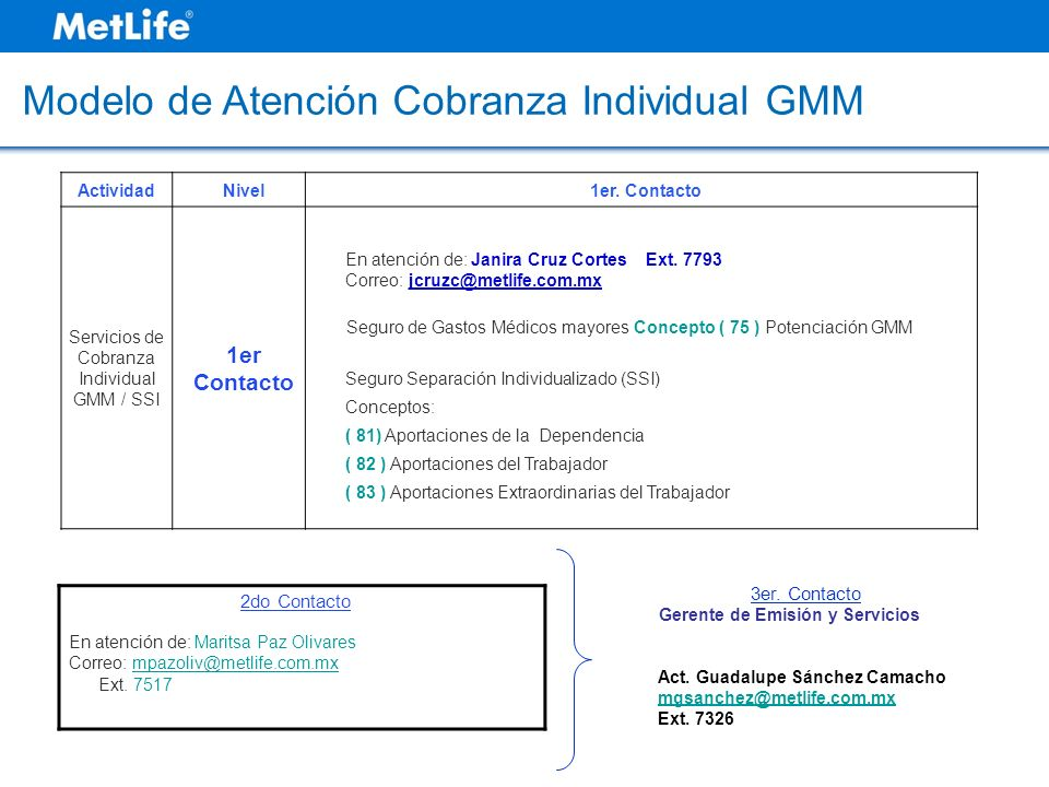 Servicios de Cobranza Individual GMM / SSI