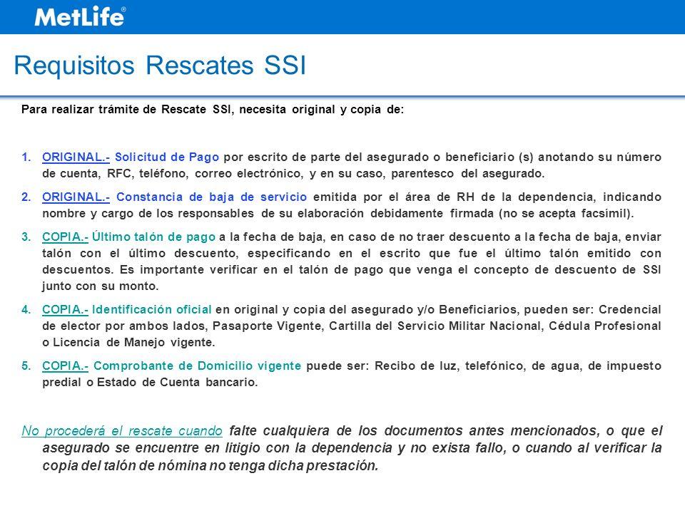 Requisitos Rescates SSI