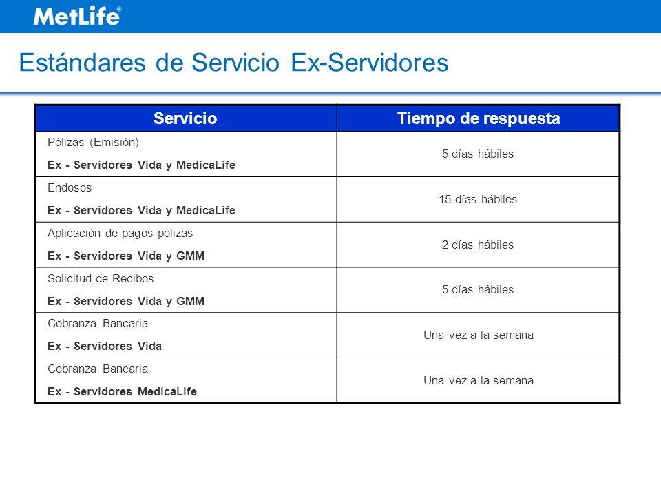 Estándares de Servicio Ex-Servidores