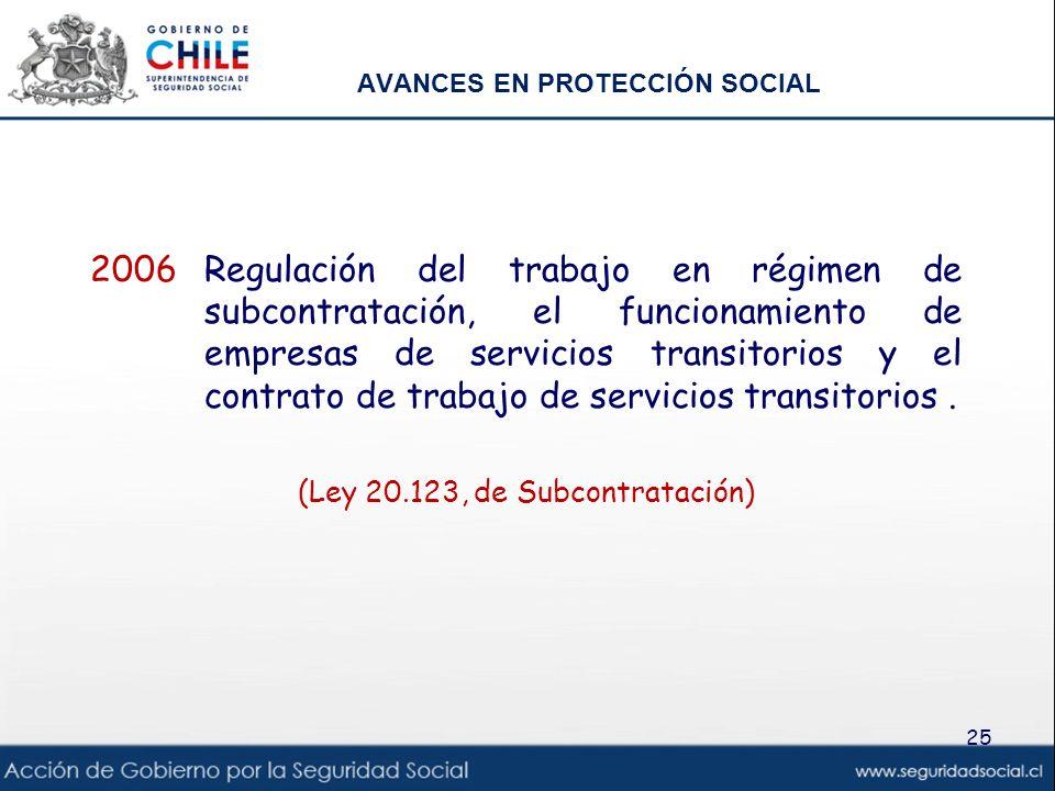 AVANCES EN PROTECCIÓN SOCIAL