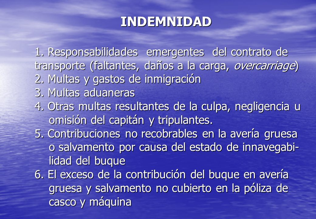 INDEMNIDAD 1.