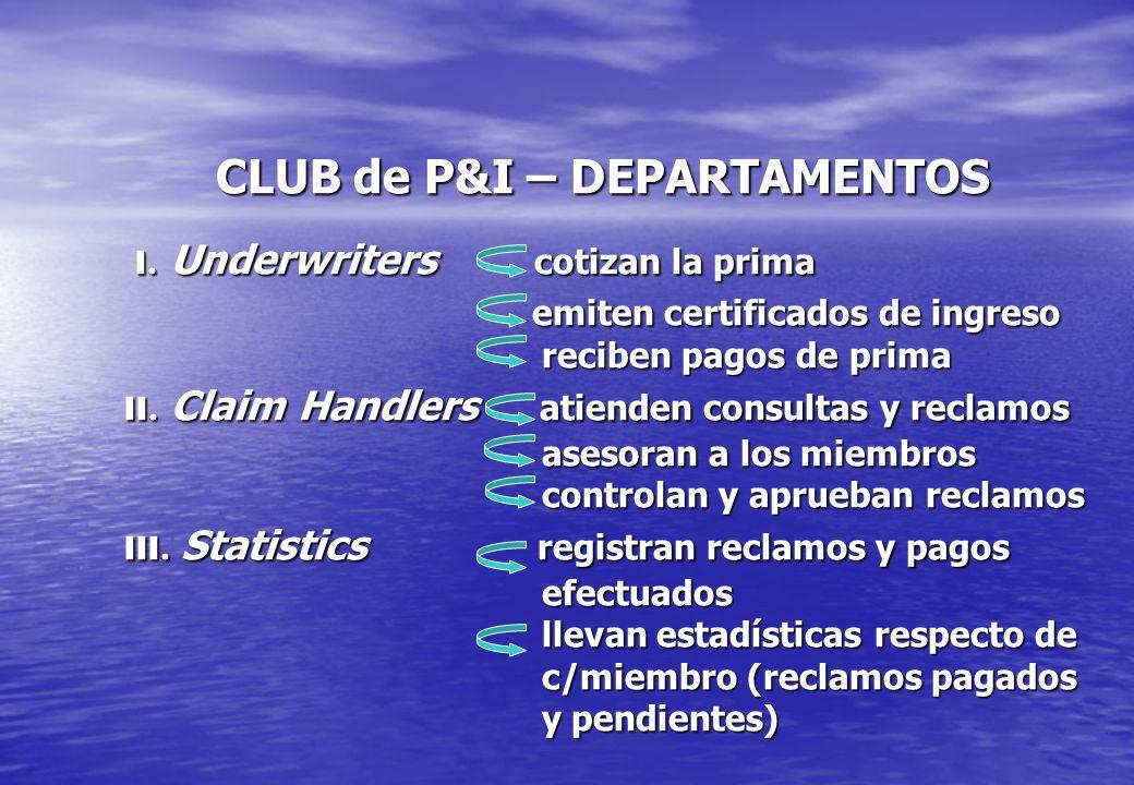 CLUB de P&I – DEPARTAMENTOS I