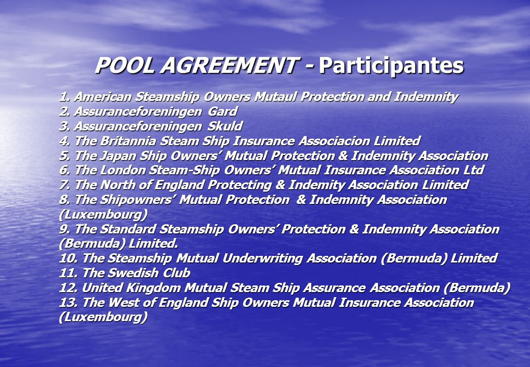 POOL AGREEMENT - Participantes 1