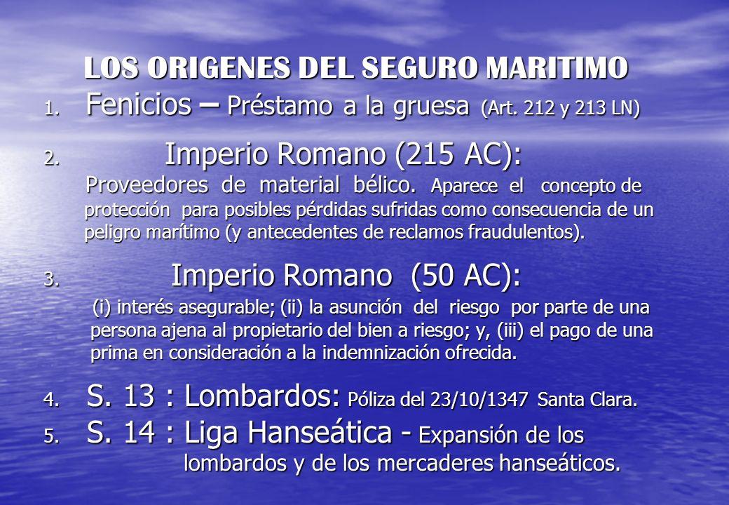 LOS ORIGENES DEL SEGURO MARITIMO 1