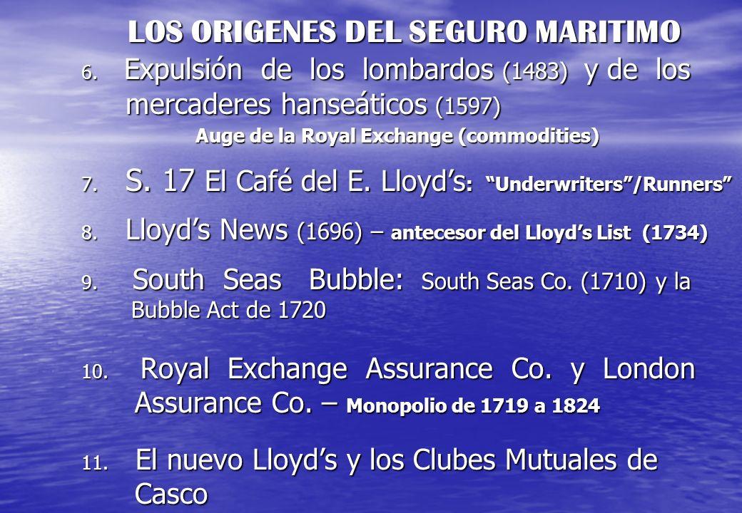 LOS ORIGENES DEL SEGURO MARITIMO 6