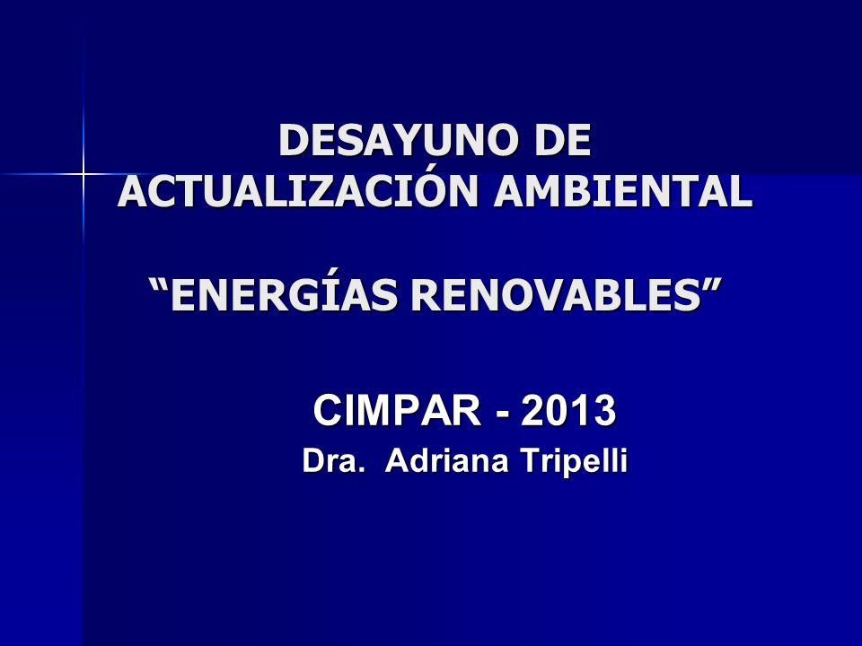 DESAYUNO DE ACTUALIZACIÓN AMBIENTAL ENERGÍAS RENOVABLES