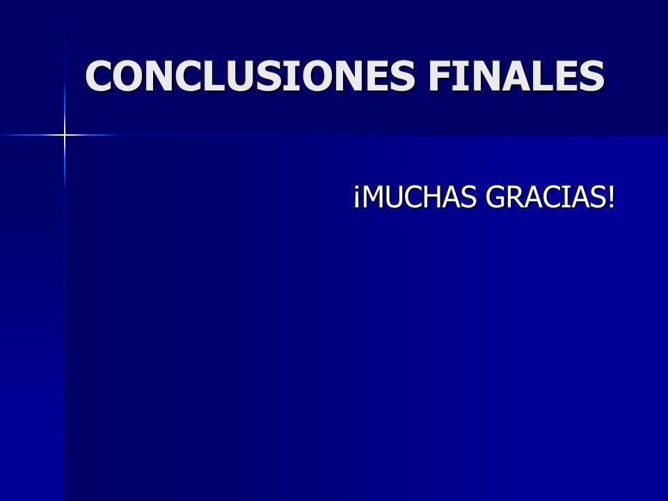 CONCLUSIONES FINALES ¡MUCHAS GRACIAS!