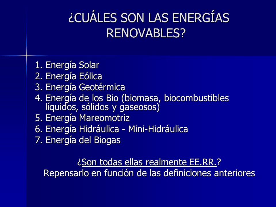 ¿CUÁLES SON LAS ENERGÍAS RENOVABLES