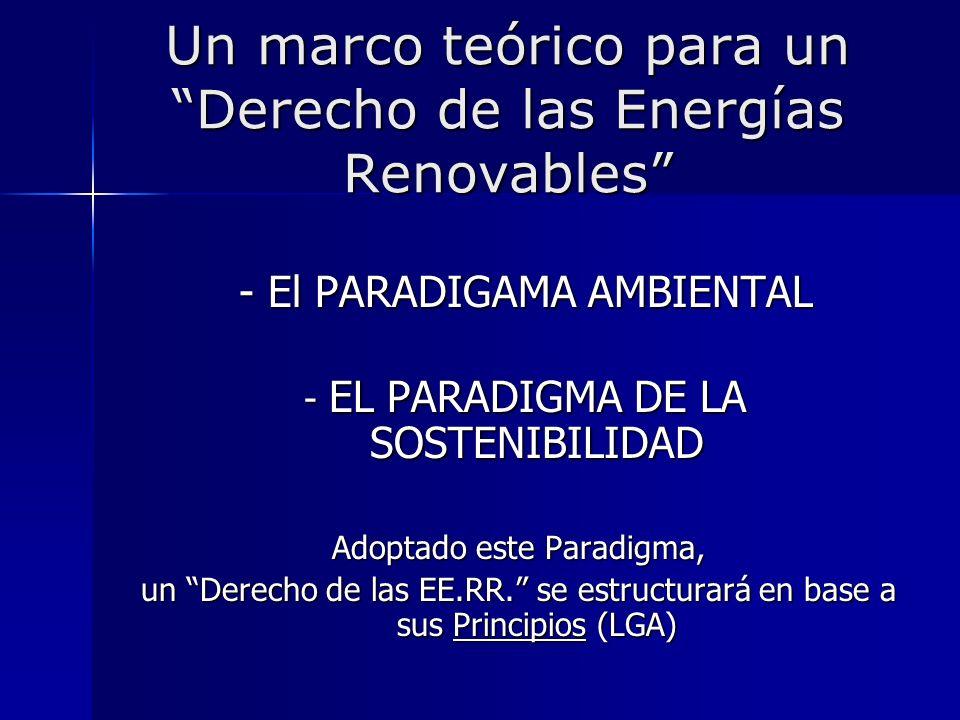 Un marco teórico para un Derecho de las Energías Renovables