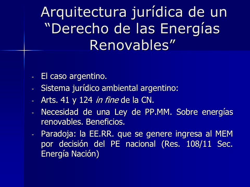 Arquitectura jurídica de un Derecho de las Energías Renovables