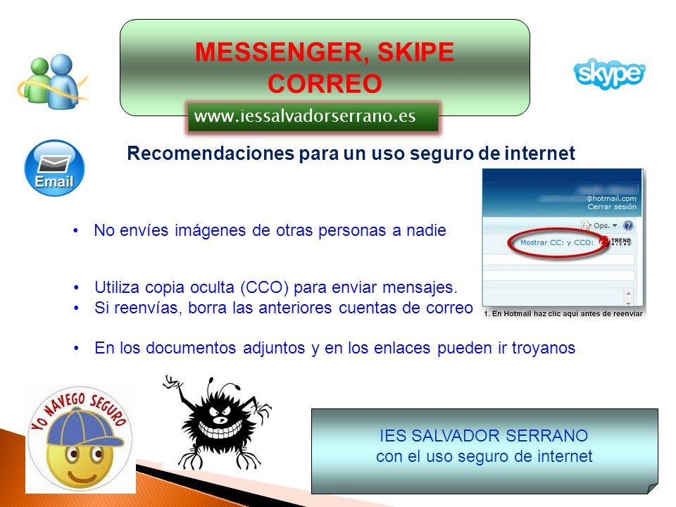con el uso seguro de internet