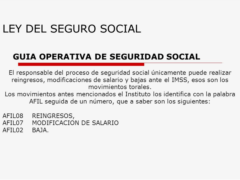 GUIA OPERATIVA DE SEGURIDAD SOCIAL