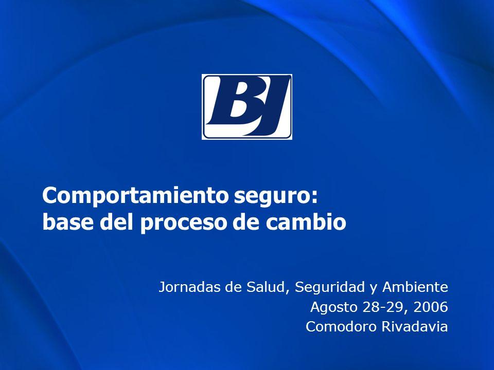 Comportamiento seguro: base del proceso de cambio