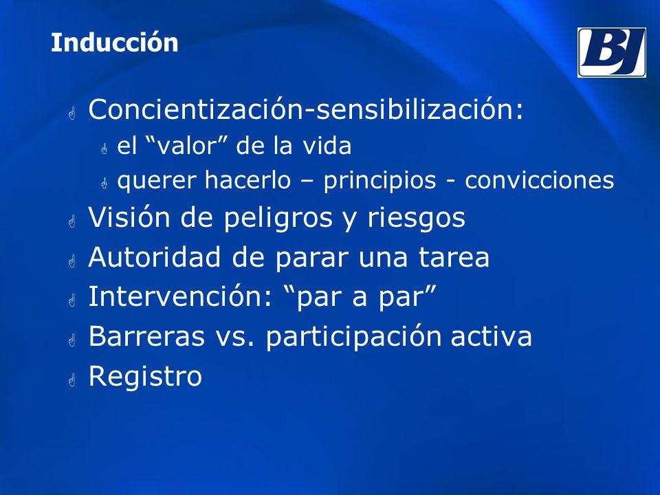 Concientización-sensibilización: