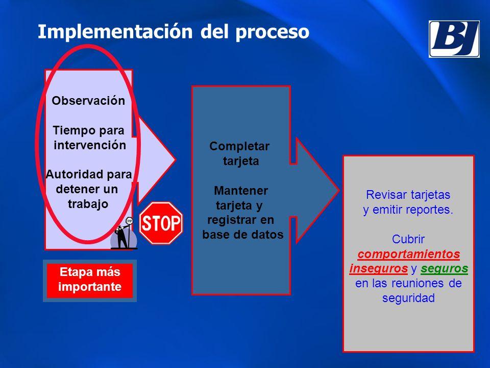 Implementación del proceso