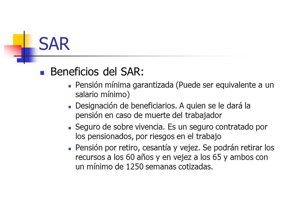 SAR Beneficios del SAR: