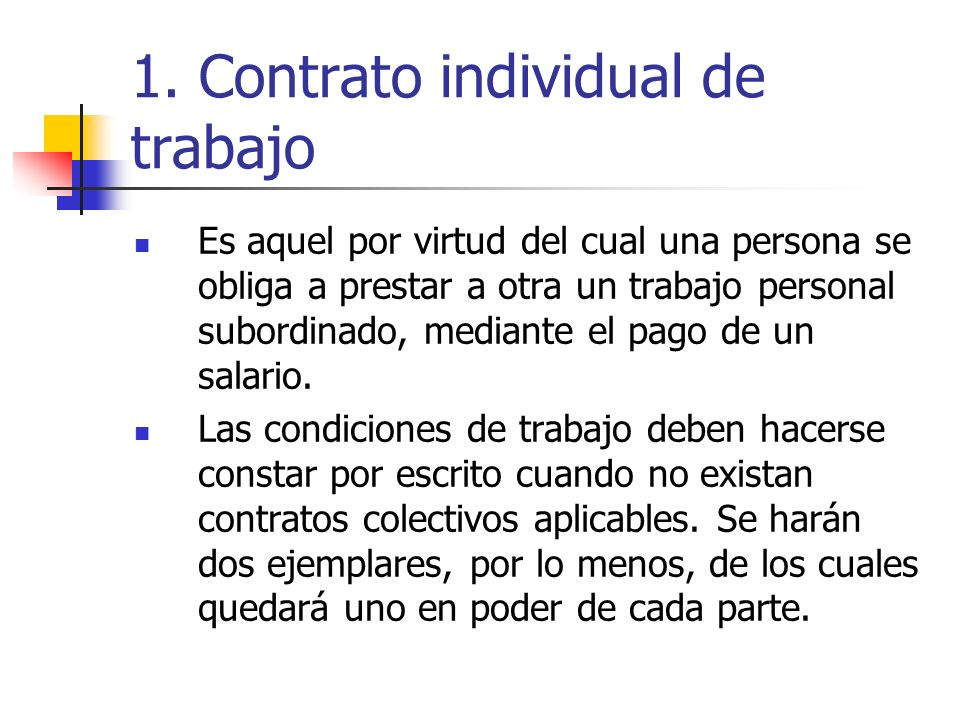 Contexto legal de las decisiones de empleo ppt video for Contrato trabajo