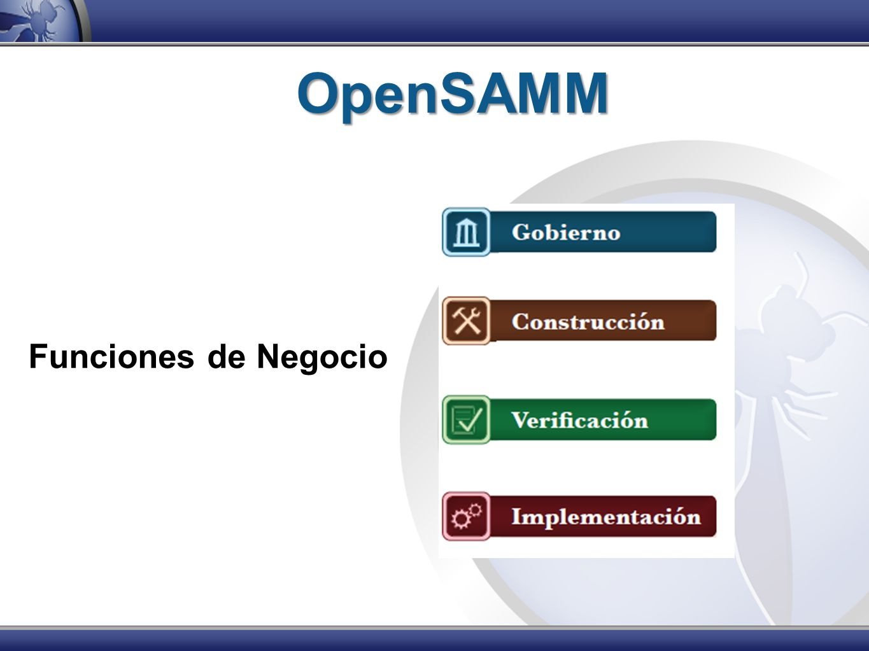 OpenSAMM Funciones de Negocio