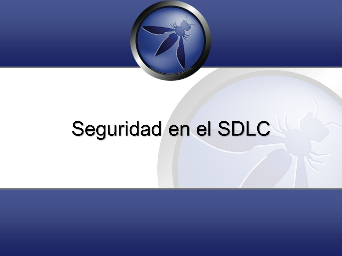 Seguridad en el SDLC Feel free to ask questions. Thank you!