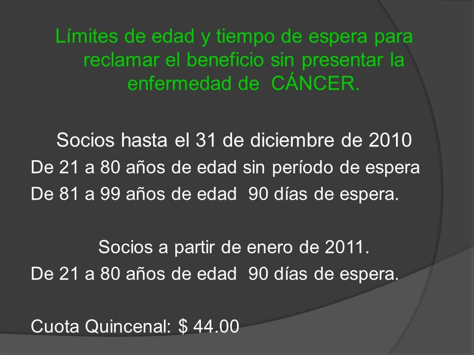 Socios hasta el 31 de diciembre de 2010
