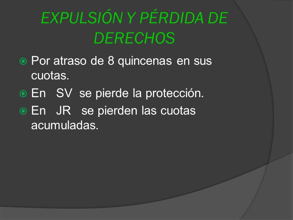 EXPULSIÓN Y PÉRDIDA DE DERECHOS