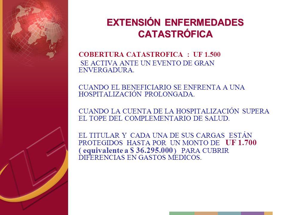 EXTENSIÓN ENFERMEDADES CATASTRÓFICA