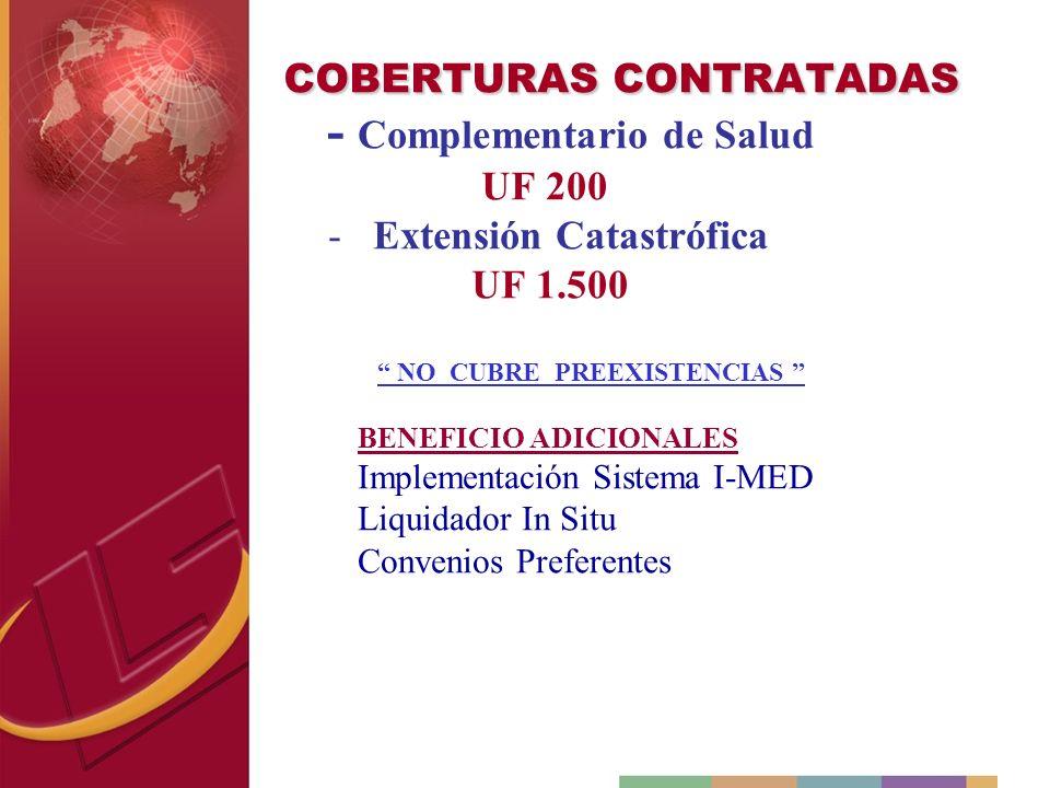 COBERTURAS CONTRATADAS