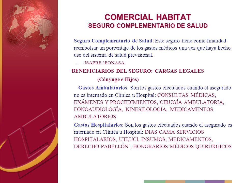 COMERCIAL HABITAT SEGURO COMPLEMENTARIO DE SALUD