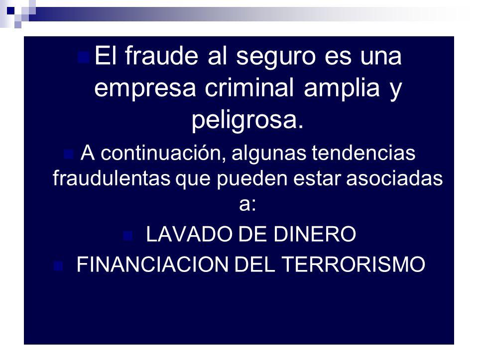 El fraude al seguro es una empresa criminal amplia y peligrosa.