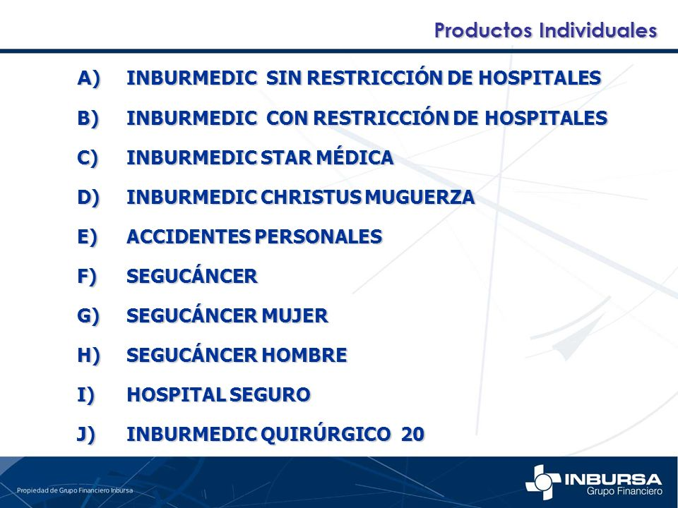 Productos Individuales