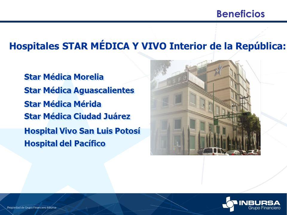 Beneficios Hospitales STAR MÉDICA Y VIVO Interior de la República: