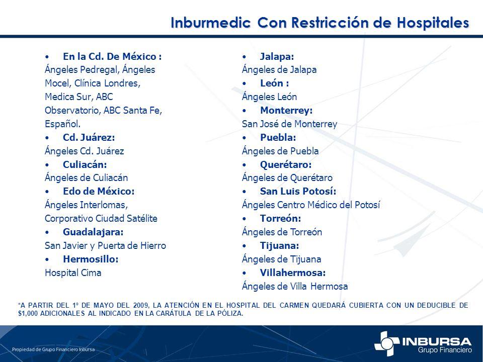 Inburmedic Con Restricción de Hospitales