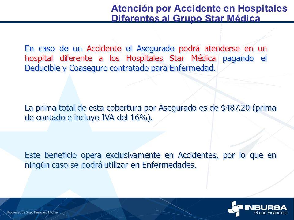 Atención por Accidente en Hospitales Diferentes al Grupo Star Médica