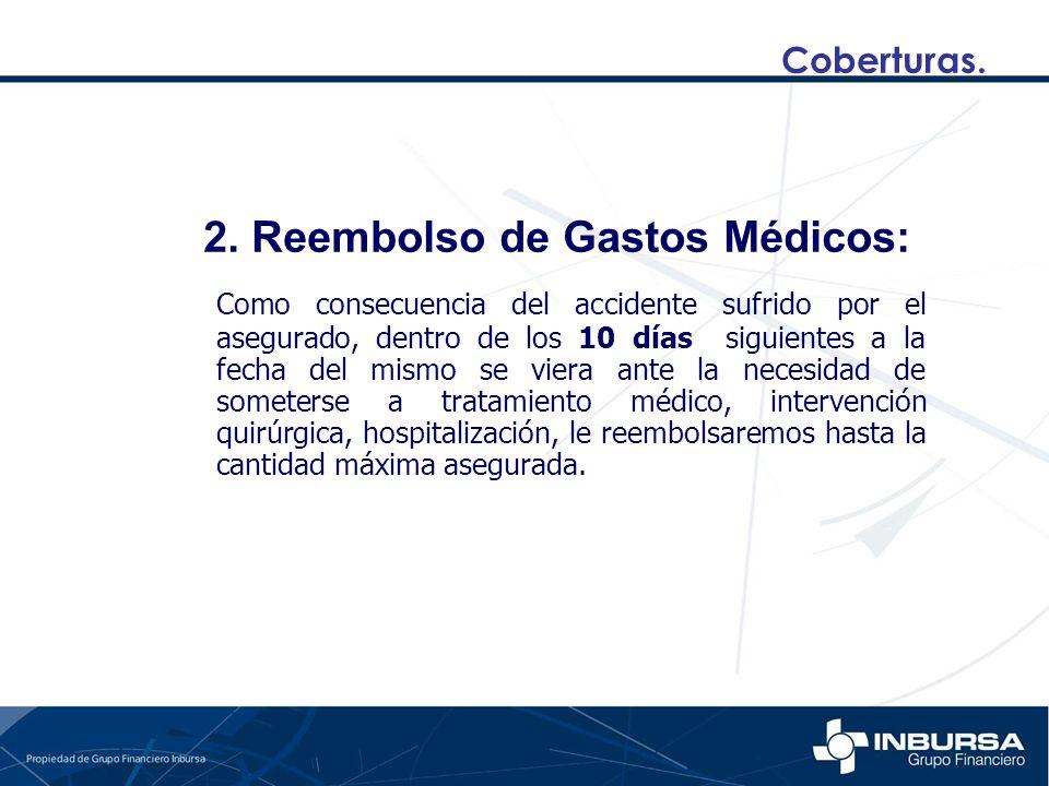 2. Reembolso de Gastos Médicos: