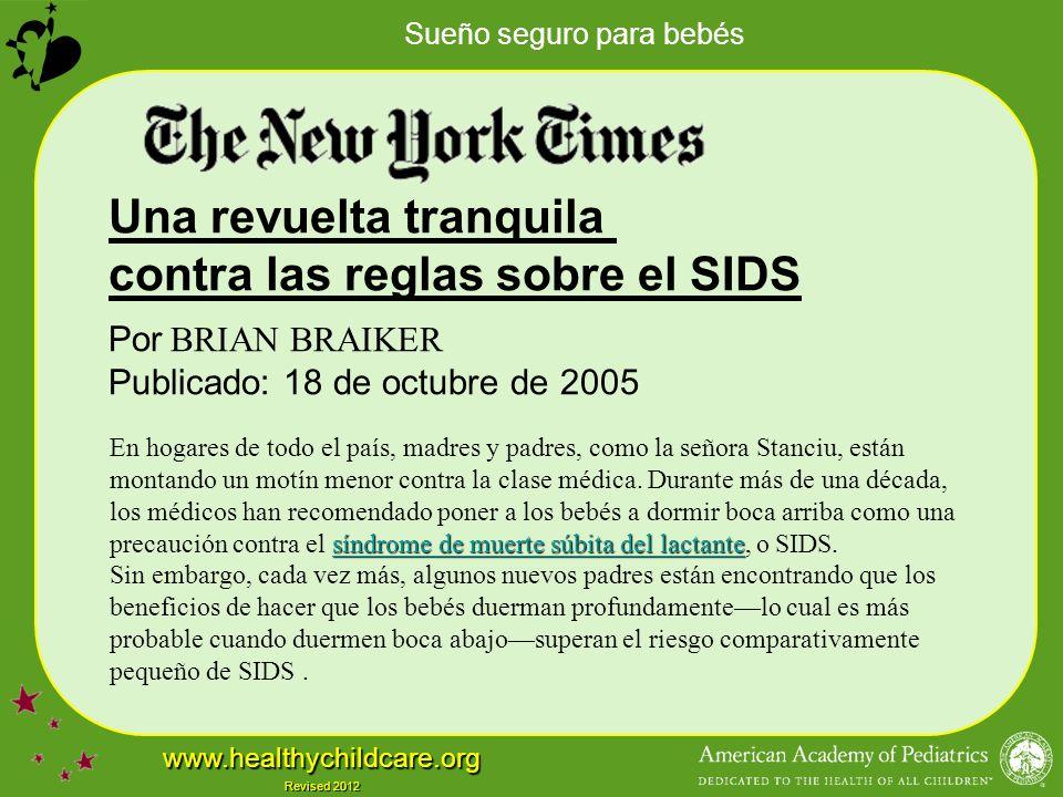 Una revuelta tranquila contra las reglas sobre el SIDS