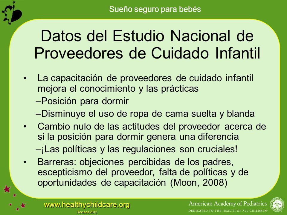 Datos del Estudio Nacional de Proveedores de Cuidado Infantil