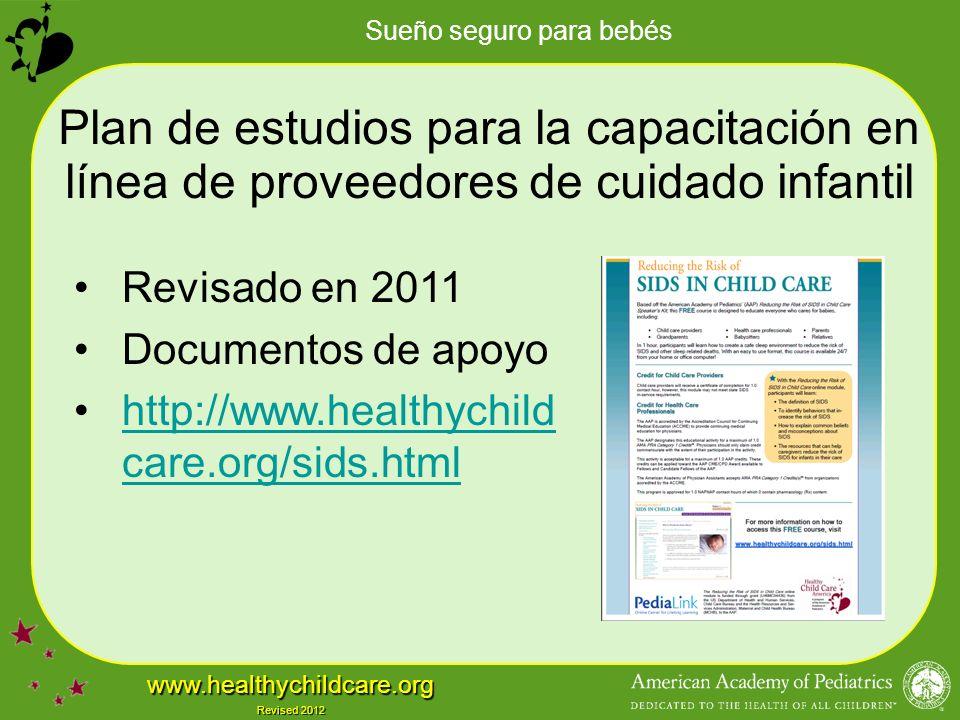 Plan de estudios para la capacitación en línea de proveedores de cuidado infantil