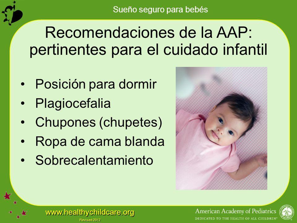 Recomendaciones de la AAP: pertinentes para el cuidado infantil
