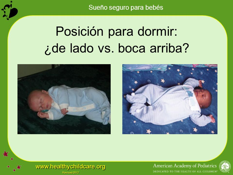 Posición para dormir: ¿de lado vs. boca arriba