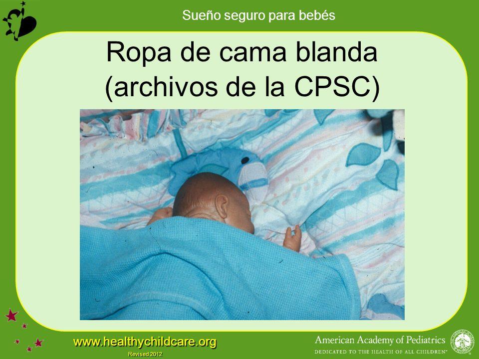 Ropa de cama blanda (archivos de la CPSC)