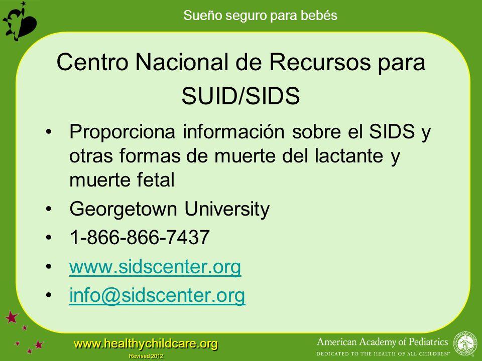 Centro Nacional de Recursos para SUID/SIDS