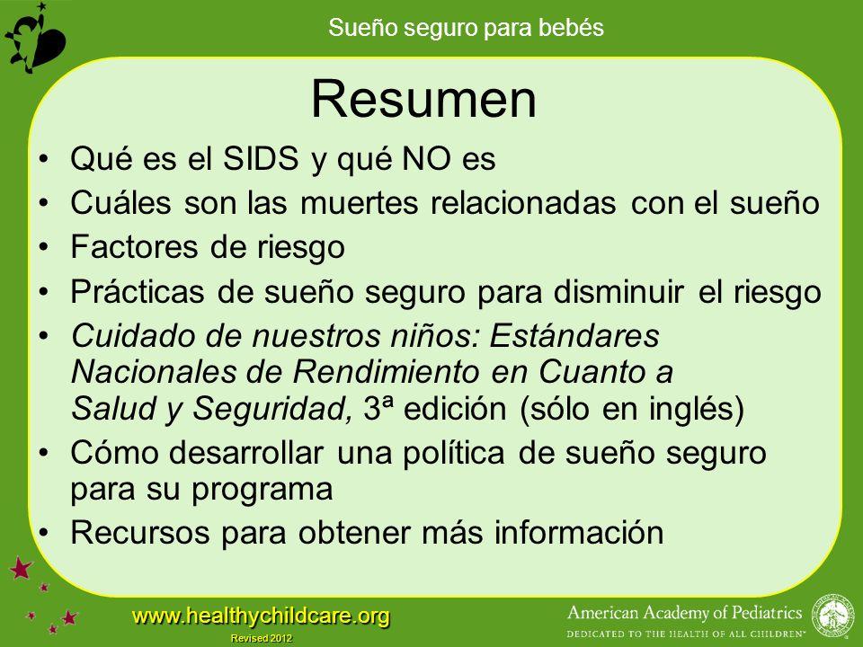 Resumen Qué es el SIDS y qué NO es