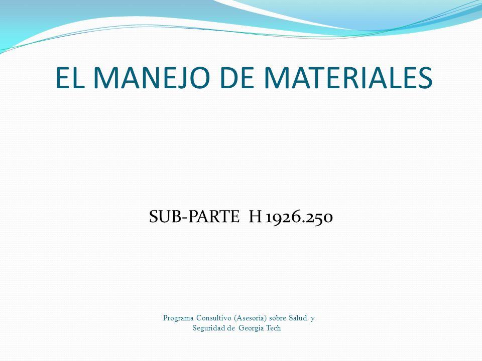 EL MANEJO DE MATERIALES