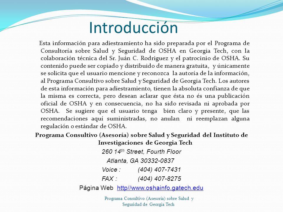 Programa Consultivo (Asesoría) sobre Salud y Seguridad de Georgia Tech