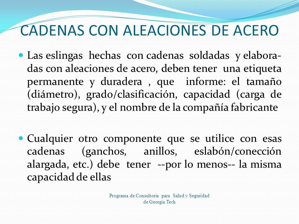 CADENAS CON ALEACIONES DE ACERO